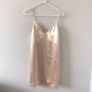 Gold slip dress